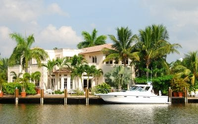 Luxury Home With Boat Dock And Yacht
