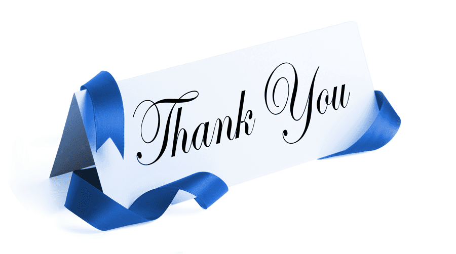 Thank You In Script Writing On Tent Card